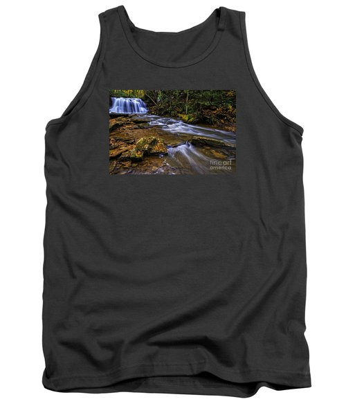 Upper Falls Holly River Tank Top by Thomas R Fletcher