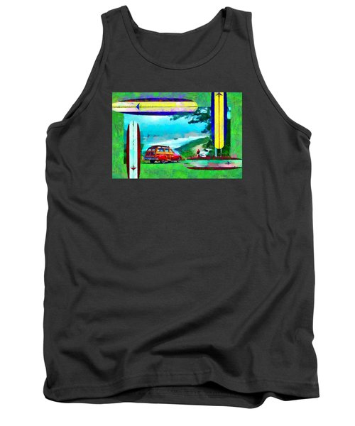 60's Surfing Tank Top by Caito Junqueira