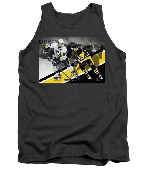 Tank Top featuring the photograph Sidney Crosby by Don Olea
