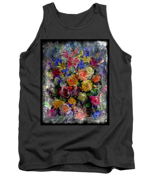 7a Abstract Floral Painting Digital Expressionism Tank Top