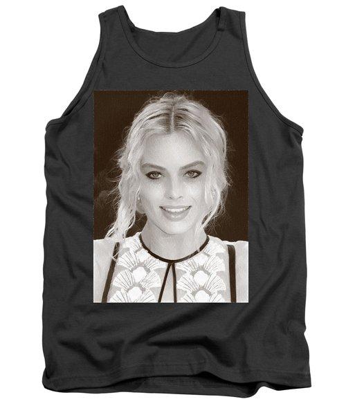Actress Margot Robbie Tank Top