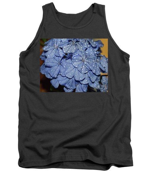 Blue Plumbago Tank Top by Elvira Ladocki