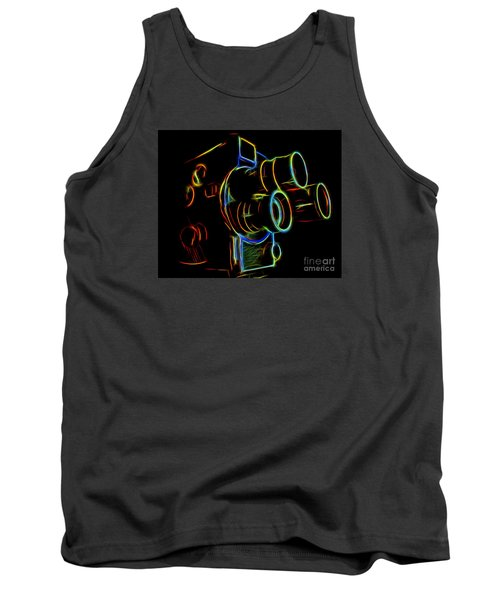 Tank Top featuring the photograph 8mm In Neon by Mark Miller