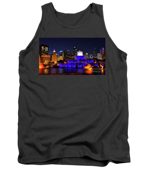 911 Tribute At Buckingham Fountain, Chicago Tank Top by Zawhaus Photography
