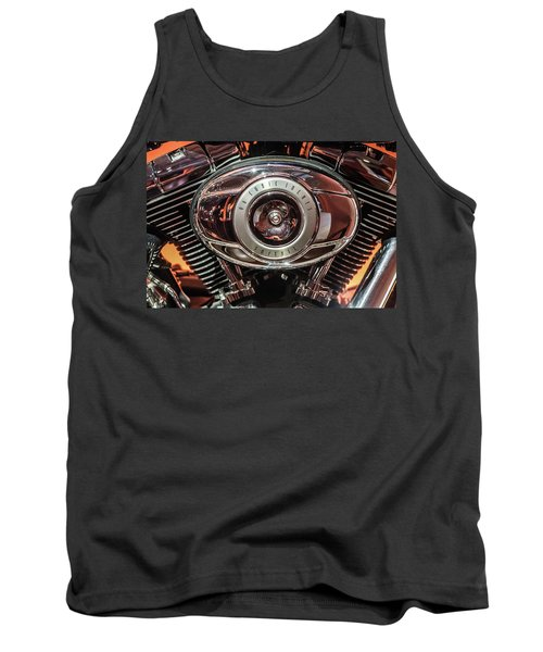 Tank Top featuring the photograph 96 Cubic Inches Softail by Randy Scherkenbach