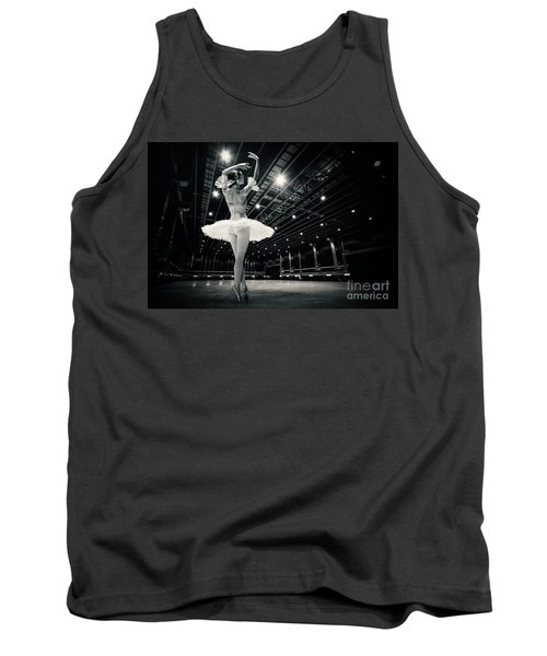 Tank Top featuring the photograph A Beautiful Ballerina Dancing In Studio by Dimitar Hristov