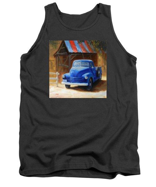 A Blue Chevrolet Tank Top
