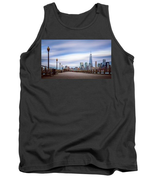 Tank Top featuring the photograph A Boardwalk In The City by Eduard Moldoveanu