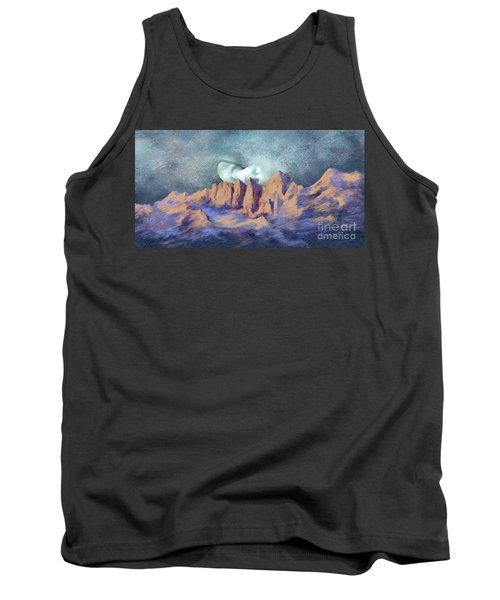 Tank Top featuring the painting A Breath Of Tranquility by Sgn