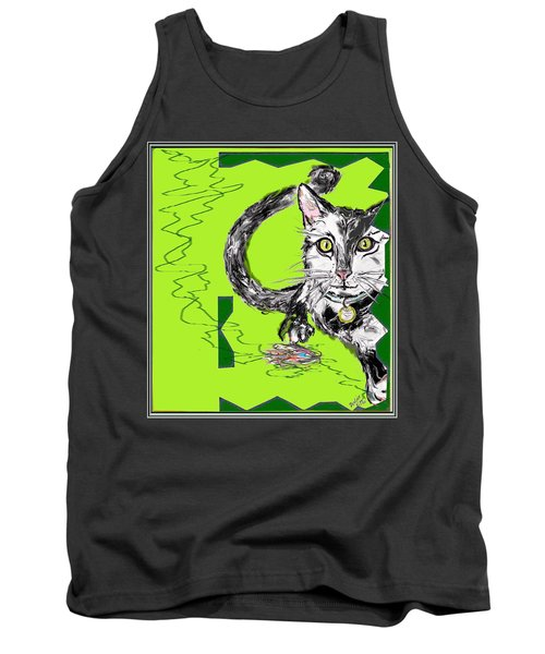 A Cat Tank Top by Desline Vitto