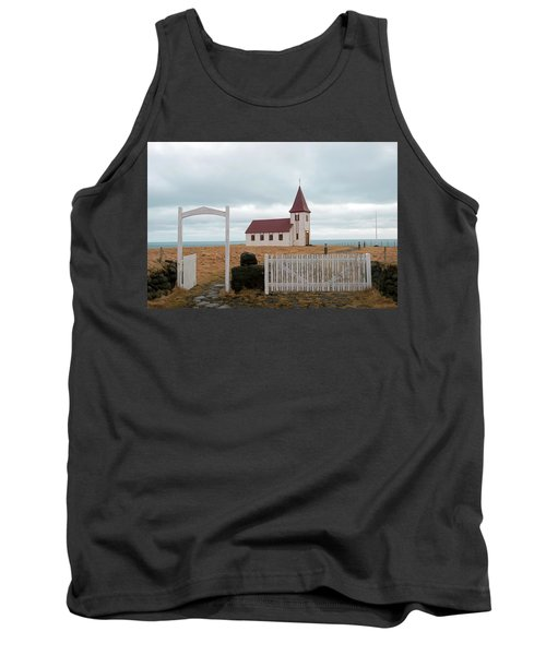 Tank Top featuring the photograph A Church With No Fence by Dubi Roman