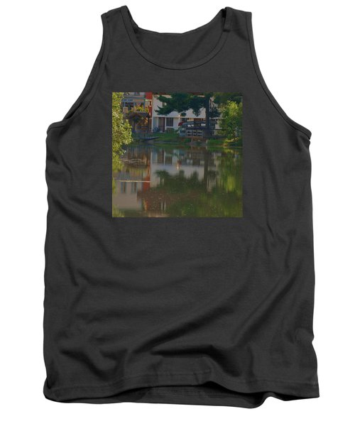 Tank Top featuring the photograph A Cities Reflection by Ramona Whiteaker