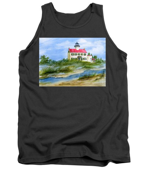 A Clear Day At East Point Lighthouse Tank Top by Nancy Patterson