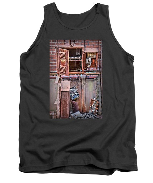 Tank Top featuring the photograph A Collaboration Of Rust by DJ Florek