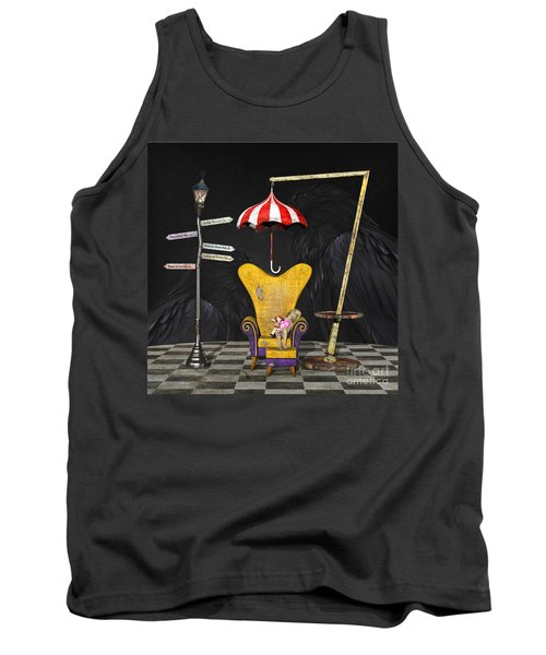 A Curious Bus Stop Tank Top
