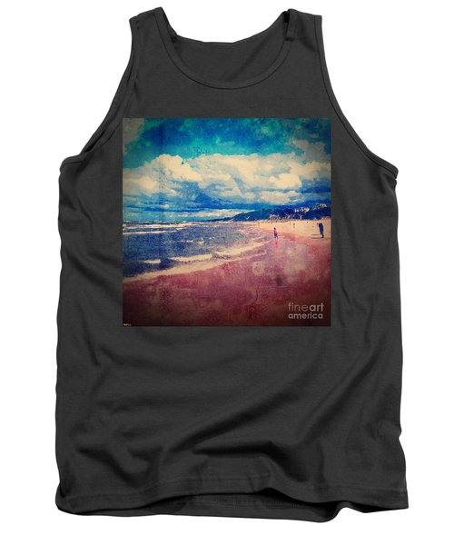 Tank Top featuring the photograph A Day At The Beach by Phil Perkins