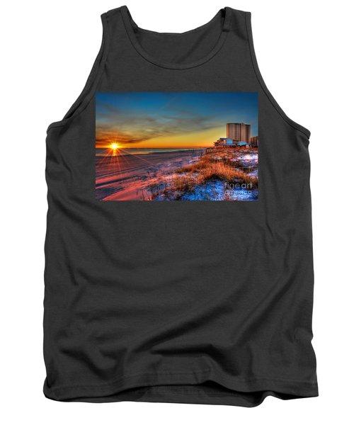 A December Beach Sunset Tank Top