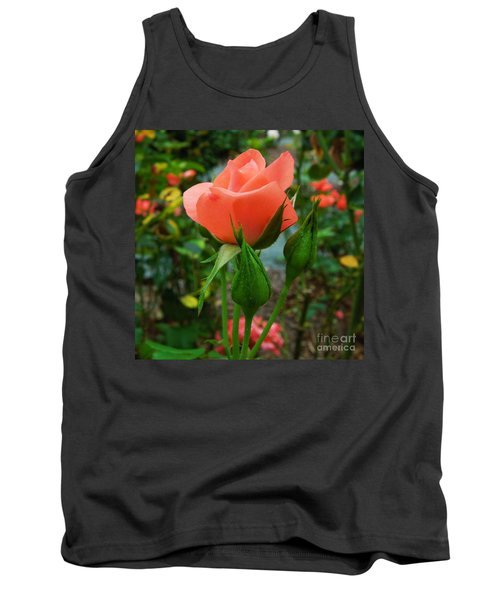 A Delicate Pink Rose Tank Top
