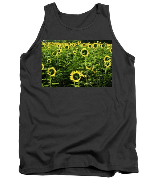 A Flock Of Blooming Sunflowers Tank Top