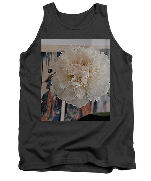 Tank Top featuring the photograph A Fluff Of Petals by Nancy Kane Chapman