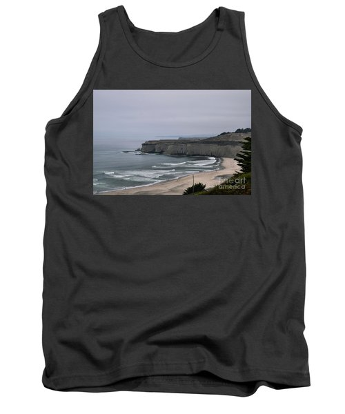 A Foggy Day On Hwy 1 Tank Top