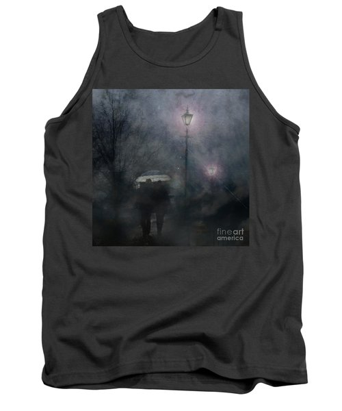 Tank Top featuring the photograph A Foggy Night Romance by LemonArt Photography