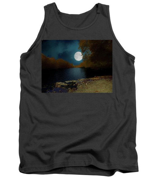 A Full Moon On A River. Tank Top