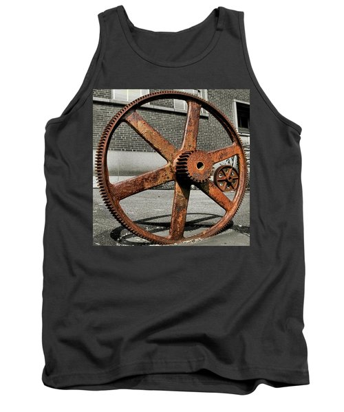A Gear In A Gear Tank Top