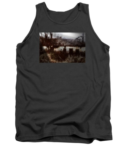 Tank Top featuring the photograph A House In The Woods by Mimulux patricia no No