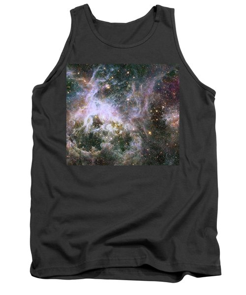 Tank Top featuring the photograph A Hubble Infrared View Of The Tarantula Nebula by Nasa