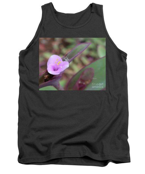 A Lavender Smile - Tradescantia Pallida Tank Top