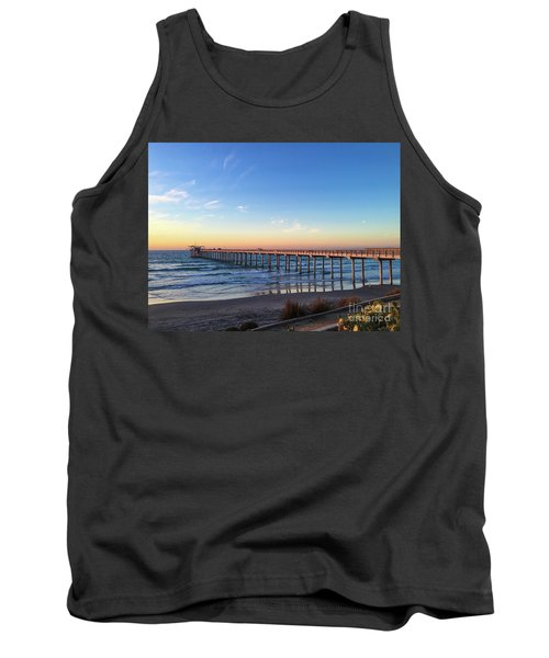 A Long Look At Scripps Pier At Sunset Tank Top