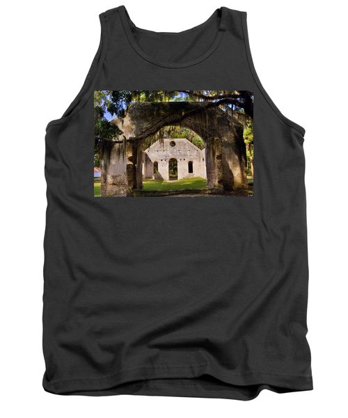 A Look Into The Chapel Of Ease St. Helena Island Beaufort Sc Tank Top