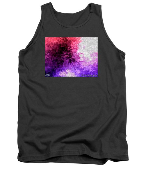 Tank Top featuring the painting A Lotta Fight by Holley Jacobs