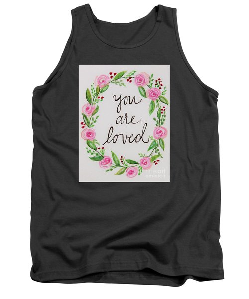 A Love Note Tank Top by Elizabeth Robinette Tyndall