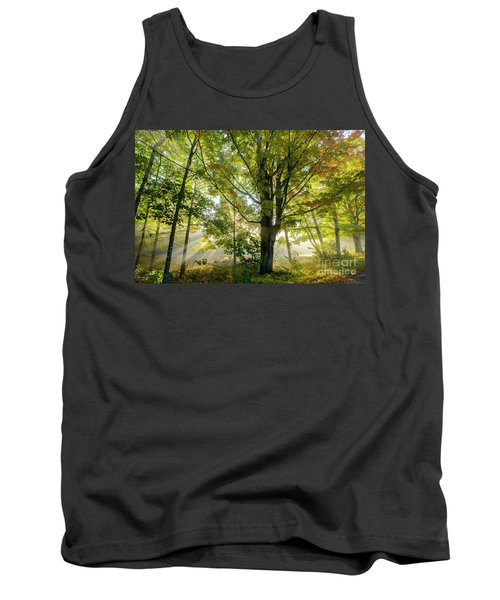 A Misty Fall Morning Tank Top