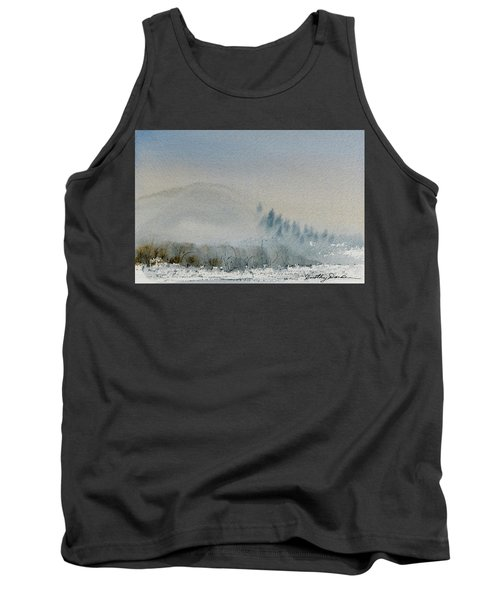 Tank Top featuring the painting A Misty Morning by Dorothy Darden