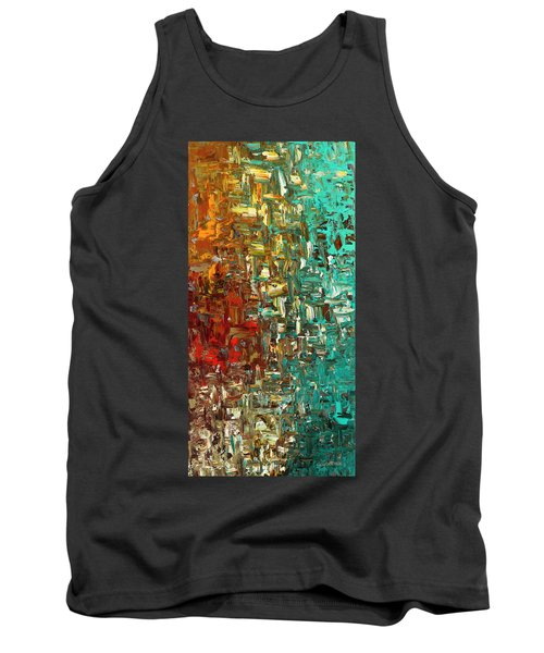 Tank Top featuring the painting A Moment In Time - Abstract Art by Carmen Guedez