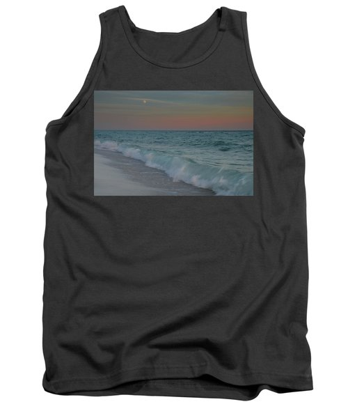 Tank Top featuring the photograph A Moonlit Evening On The Beach by Renee Hardison
