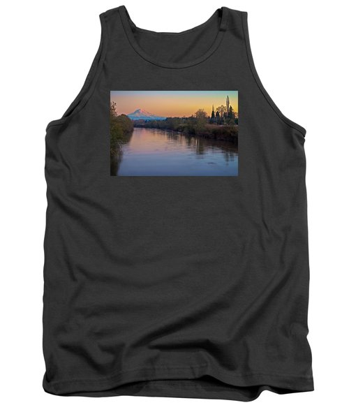 A Mt Tahoma Sunset Tank Top by Ken Stanback