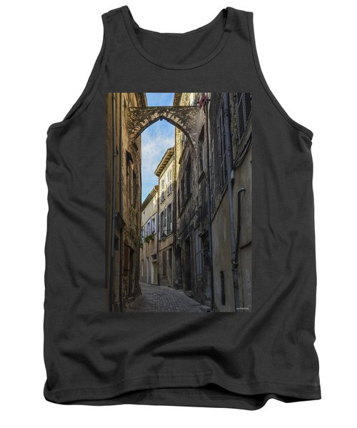 Tank Top featuring the photograph A Narrow Street In Viviers by Allen Sheffield