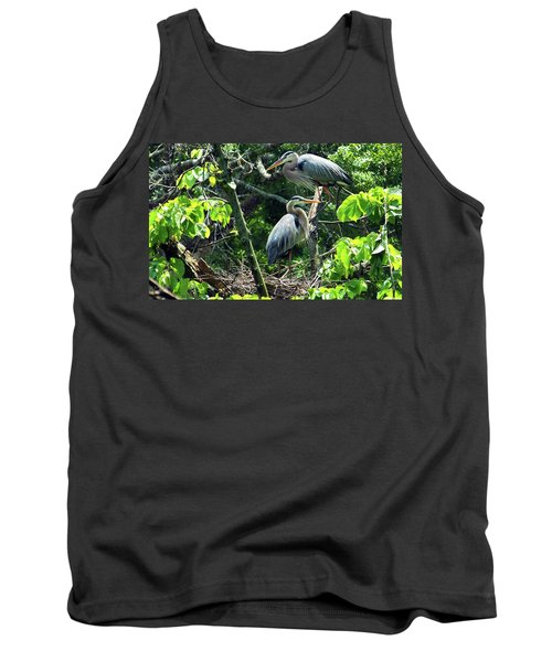 A Nesting Pair Of Great Blue Herons Tank Top
