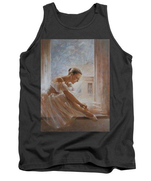 A New Day Ballerina Dance Tank Top by Vali Irina Ciobanu