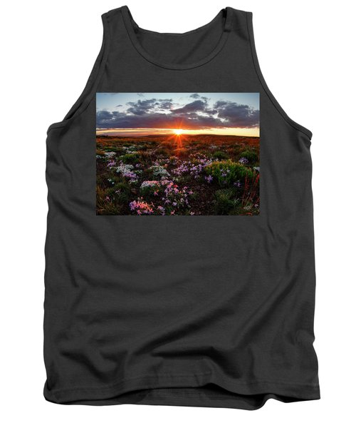 Tank Top featuring the photograph A Nuttalls Linanthastrum Morning by Leland D Howard