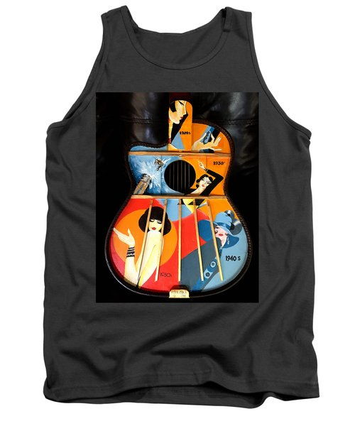A Painted Guitar Tank Top