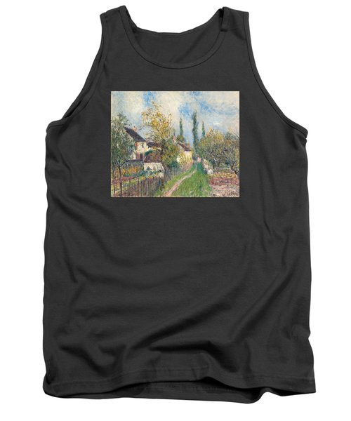 A Path At Les Sablons Tank Top by Alfred Sisley