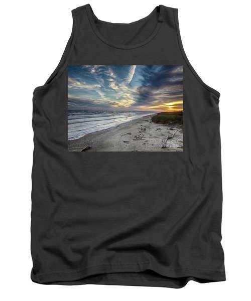 A Peaceful Beach Sunset Tank Top