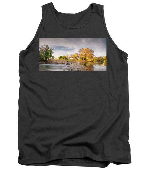 A Peaceful Fall Afternoon At Rio Vista Dam Park - San Marcos Hays County Texas Hill Country Tank Top