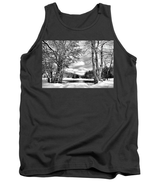 A Peek At Winter Tank Top by David Patterson