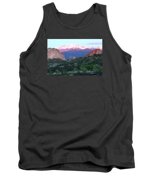 A Pikes Peak Sunrise Tank Top by Eric Glaser